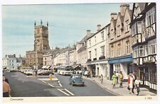 Cirencester High Street shops and cars,Gloucestershire Colour Postcard