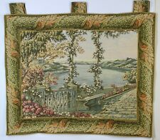 Wall Tapestry Hanging Italian Balcony Terrace on Lake Como Fully Lined