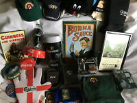 Job Lot of Merchandise Pub Man Cave Coca Cola Bar Towels Taps Stands Optics RARE