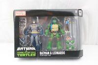 Batman & Leonardo Action Figure 2-Pack Batman vs. TMNT Ninja Turtles GameStop