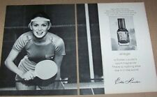 1975 print ad - Estee Lauder Cosmetics Aliage CUTE girl ping pong Advertising