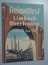 Chronik/Festschrift Heimatfest Limbach-Oberfrohna Juni 1958 /Chemnitz *Burgstädt