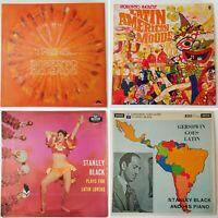 4x latin jazz LP joblot. Stanley Black, Roberto Inglez, Roberto Delgado. Samba