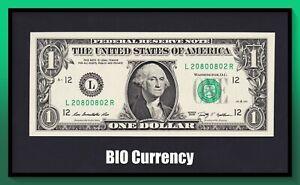 FR. 1934L 2009 $1 Federal Reserve Note *Radar Serial #*, UNC