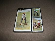 NEW BRIDGE CARD SET-INCLUDES PAD AND PACK STILL IN BOX-OLD GOLFERS SCENE-LOVELY