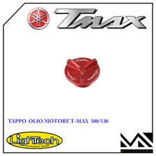 TAPPO OLIO MOTORE ROSSO LIGHTECH PER YAMAHA T MAX TMAX 530 DAL 2012 AL 2018