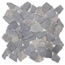 Carrelage pierre Vigo T687 mosaique, 11 pièces à 30x30cm = 1m² ~ gris