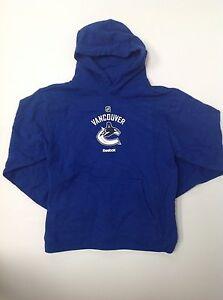 Reebok NHL Vancouver Canucks Hockey Youth Sweatshirt Hood Pocket Multiple sizes