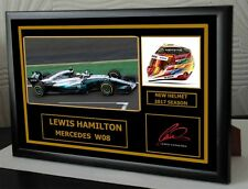 """Lewis Hamilton New 2017 car Framed Signed """"Great Gift"""""""