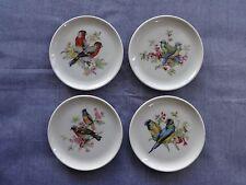 Schumann Arzberg Germany/E & R Golden Crown Coasters w/ Bird Scenes Set of 4