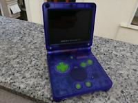 Nintendo Game Boy Advance SP Original AGS 101 Clear Purple Handheld System Mint
