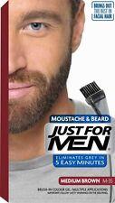 Just For Men Brush In Colour Dye Gel for Moustache Beard Hair MEDIUM BROWN M35