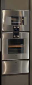 Gaggenau 400 Series Oven, Combination Microwave and warming drawer. Hinge Left