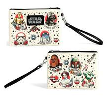 new STAR WARS Loungefly TATTOO Princess Leia Darth Vader punk WRISTLET clutch