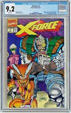 X-Force #1 (Marvel 1991) CGC 9.2 NM-    Negative UPC code box  WHITE Pages