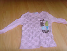 roxy teenie wahine size 2 pink birds Long Sleeve Top