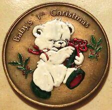 Weihnachtsmedaille Baby´s 1. Weihnachten/ Christmas Rückseite Cravurfeld