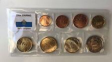 Euro-KMS San Marino - 8 Euromünzen von 1 Cent - 2 Euro (1+2 € = neues Motiv)