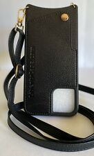 NEW Black Leather iPhone 11 Pro Max Crossbody Wallet Case