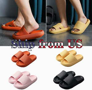 Pillow Slides Anti-Slip Sandals Ultra Soft Slippers Cloud Shower Home Hole Shoes