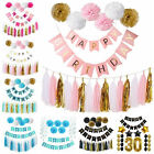 Happy Birthday Party Paper String Banner Hanging Bunting Flag Party Decoration