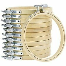 """Edmunds CNEH-4N Wood Embroidery Hoop W//Round Edges 4/""""-Natural"""