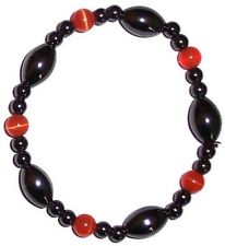 MAGNETIC HAEMATITE and CATS EYE BRACELET crystal healing gemstone HEMATITE mg10o