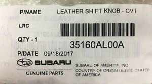 15-20 Subaru Legacy & Outback Leather Shift Knob Automatic OEM 35160AL00A ASCENT