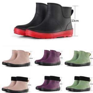 Women Wellington Rain Boots Winter Waterproof Ankle Wellies Outdoor Garden Shoes