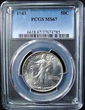 1943 Walking Liberty Silver Half Dollar - PCGS MS 67