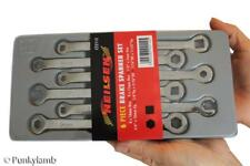 6 Pc Brake Pipe Nipple Car Service Adjustment Garage Workshop Spanner Tool Set