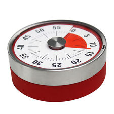 Baldr Stainless Steel Magnetic Kitchen Mechanical Timer 8CM RED