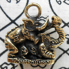 Brass Elephant Make Love Erotic Powerful Amulet Pendant Wealthy Rich Charm Magic