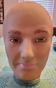 "Mannequin head, very lifelike & well made, not styrofoam, 11"" tall"