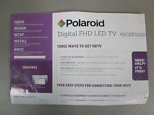 POLAROID DIGITAL FHD LED TV QUICK START GUIDE NEW
