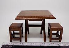 1:12 SCALA in legno pieghevole tavolo e sgabelli Casa delle Bambole Mobili In Miniatura