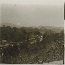 Village d'Asie Indo-chine Photo Plaque de verre Stereo L21 Vintage