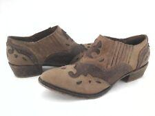 MATISSE Bootie Short Boots Cowboy Brown Rugged STEELY Womens US 8.5 EU 39.5 $169