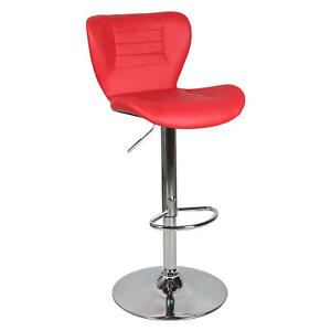 Moustache® Adjustable Height Swivel Bar Stool Home Kitchen Office Coffee
