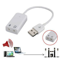 1x External Virtual USB 2.0 For Laptop Converter Stereo Sound Card Audio Adapter