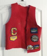 Cub Scout Bsa Uniform Patch Vest Red With Several Patches
