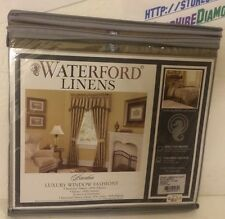 WATERFORD LINENS TAILORED VALANCE FAWN BARDON CNBRDN W113 05018 BRAND NEW!