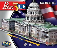 WINNING SOLUTIONS PUZZ 3D JIGSAW PUZZLE US CAPITOL UNITED STATES 764 PCS