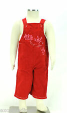 JACADI Girl's Aigu Lacquered Red Overalls with Detial Size 6 Months NWT $56