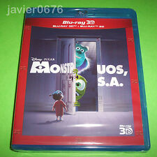 MONSTRUOS S.A. DISNEY PIXAR BLU-RAY 3D + BLU-RAY NUEVO Y PRECINTADO