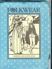 #132 Moroccan Burnoose Cape Ethnic  Folkwear Pattern Uncut on heavy paper 1983