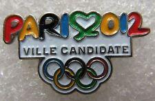 Pin's Jo Jeux Olympique PARIS 2012 Ville Candidate  #F2