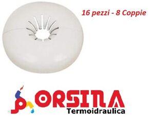 Rosone Rosetta Borchia Copritubo per Termosifone Lusso per tubo 10/16 mm