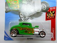 32 Ford ~ Early Times ~ Hot Wheels ~ 50th Anniversary Card ~ Green W/Flames