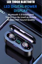 F9 sans fil casque Bluetooth 5.0 écouteur TWS tactile Support iOS/Android appel